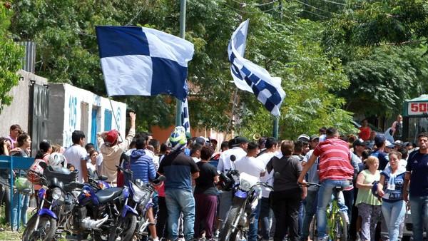 Así despidieron en el estadio de Independiente Rivadavia de Mendoza a un barra asesinado