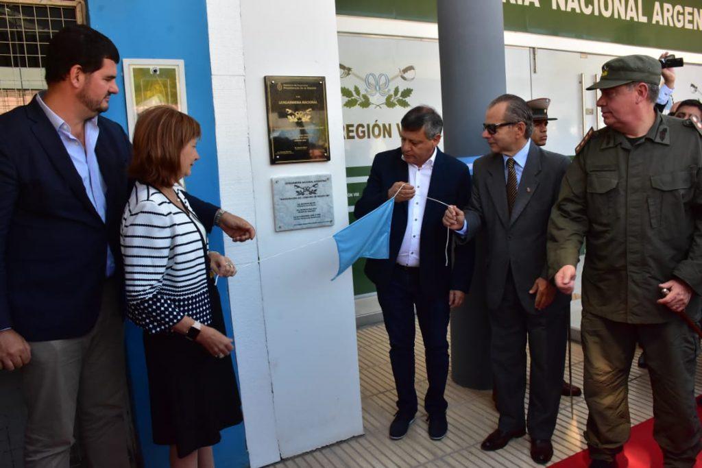 Peppo y Bullrich inauguraron el Comando Regional de Gendarmería con asiento en Sáenz Peña