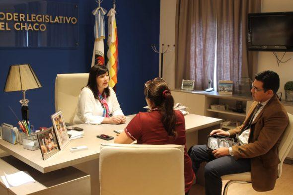 Cuesta y Soch trabajan en la colegiación profesional de obstetras del Chaco