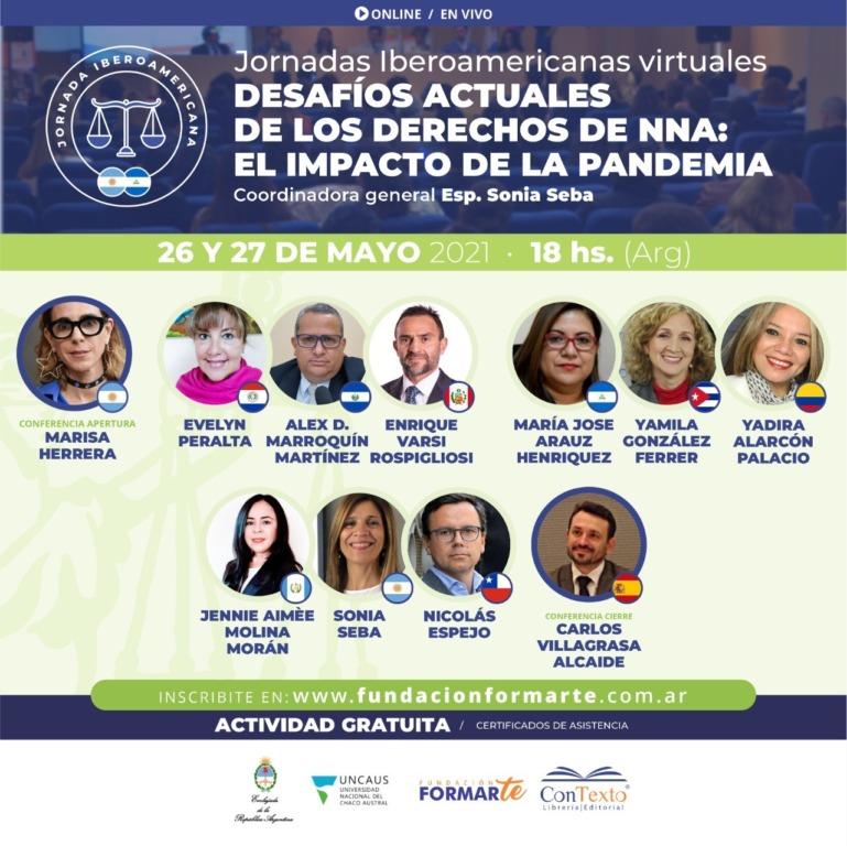 uncaus-invita-a-las-jornadas-iberoamericanas-virtuales-desafios-actuales-de-los-derechos-de-nna:-el-impacto-de-la-pandemia